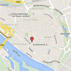 Route kaart Topslapen Arnhem