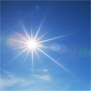 veel zonlicht overdag